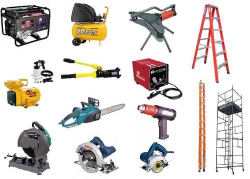 Locação de ferramentas para construção
